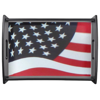 Magasin för amerikanska flaggandesignportion frukostbricka