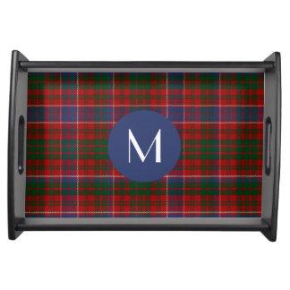 Magasin för portion för Monogram för klanMacRae Serveringsbricka