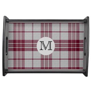Magasin för portion för Monogram för MacGregor Serveringsbricka