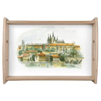 Magasin för Prague slottportion Frukostbricka