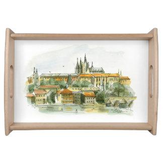 Magasin för Prague slottportion Serveringsbricka