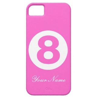 Magenta numrerar fodral åtta iPhone 5 Case-Mate fodral
