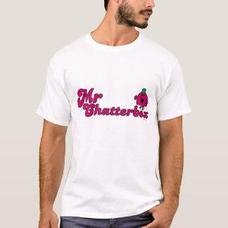 Magentafärgad Herr pratkvarnlogotyp Tee Shirt