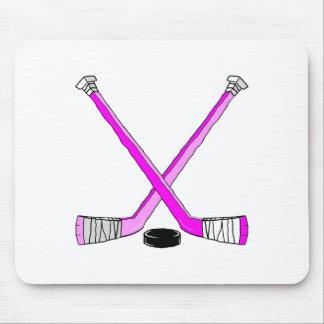 Magentafärgad hockey musmatta