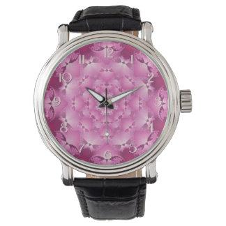 Magentafärgad Kaleidoscopeklocka Armbandsur