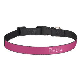 Magentafärgad mörk rosa Minimalist för Halsband Husdjur