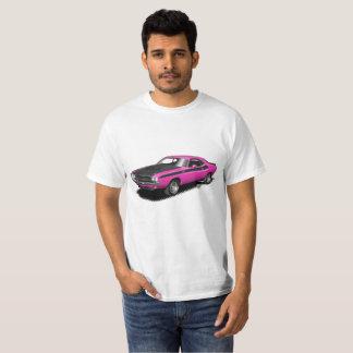 Magentafärgad t-skjorta för bil för shock tee