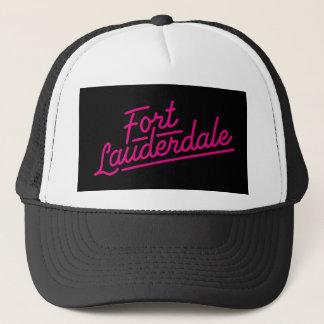 magentafärgade Fort Lauderdale Truckerkeps
