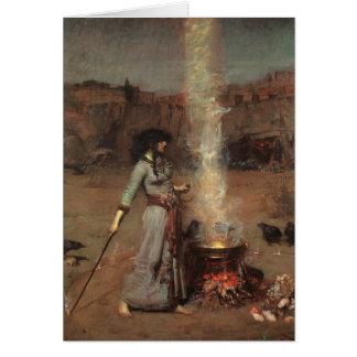 Magi cirklar, J.W. Waterhouse, 1886 Hälsningskort