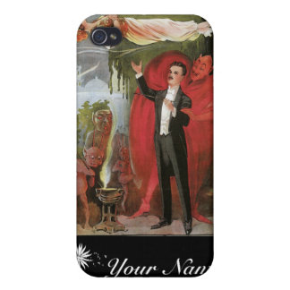 Magi för vintage för trollkarl för Blackstone ~ iPhone 4 Cases