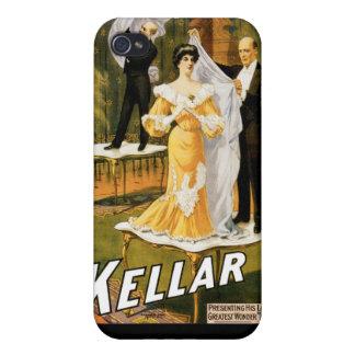 Magi för vintage för trollkarl för Kellar ~ agerar iPhone 4 Cases