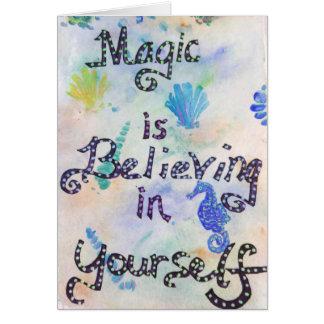Magi tror i dig hälsningskort