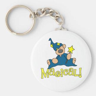 Magical björn rund nyckelring