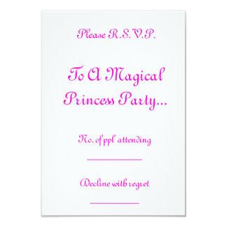 Magical Princess Festa R.S.V.P. 8,9 X 12,7 Cm Inbjudningskort