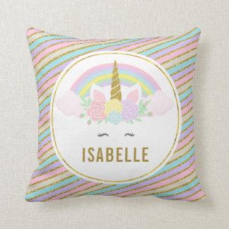 Magical regnbåge och Unicorndekorativ kudde