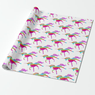 Magical sparkly regnbåge som kråma sig unicorn presentpapper