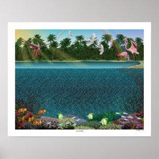 "Magisk affisch 20"" för Eye® 3D ""korallrev"" x 16"","