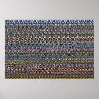 "Magisk Eye® 3D ""osynlig"" affisch 36"" x 24"","