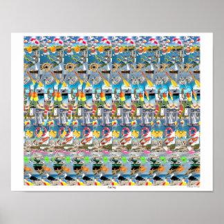 """Magisk Eye® 3D """"segling"""" affisch 16"""" x 14"""","""