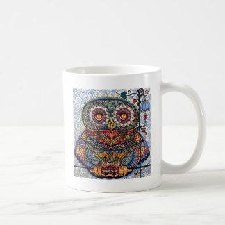 Magisk grafisk ugglamålning kaffemugg