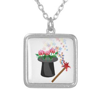 magisk hatt silverpläterat halsband