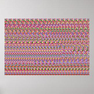 """Magiska Eye® 3D """"bassänghajar"""" poster 36"""" x 24"""","""