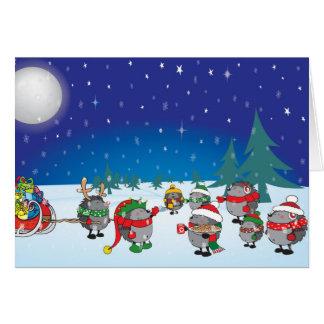 Magiska igelkott jul hälsningskort