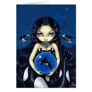 """Magiskt"""" hälsningkort """"för Orca Kort"""