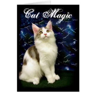 Magiskt kort för Halloween katthälsning