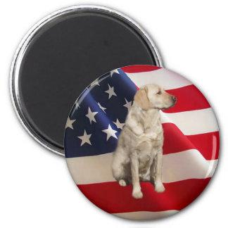 Magnet Amerika för Labrador Retriever