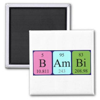 Magnet för Bambi periodisk bordnamn Kylskåpsnagnet