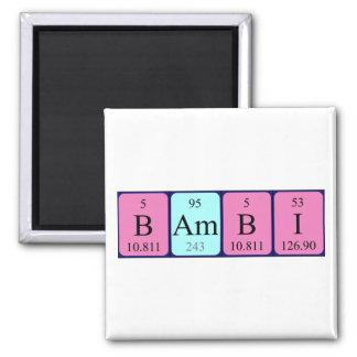Magnet för Bambi periodisk bordnamn Kylskåps Magneter