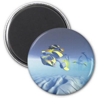 Magnet för bulldoggskvadronFlyover Magnet Rund 5.7 Cm