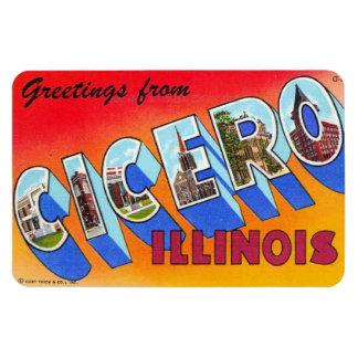 Magnet för Cicero Illinois IL stor brevvykort