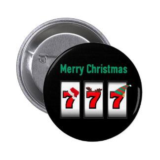 Magnet för god jul för springaspelare 777 standard knapp rund 5.7 cm