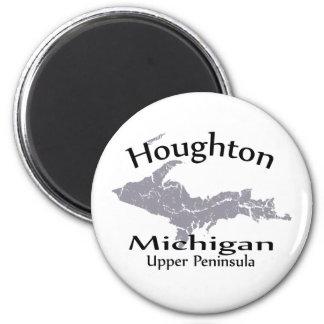 Magnet för Houghton Michigan kartadesign