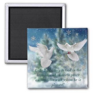 Magnet för jul för fredduvaLuke 2:14