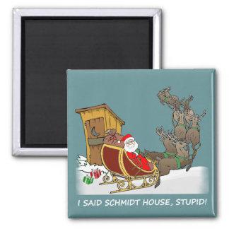 Magnet för jul för Schmidt hus rolig