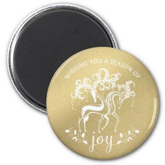 Magnet för jul för Shimmer för elegant renglädje