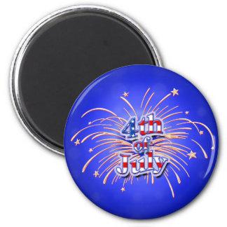 Magnet för Juli 4th fyrverkeristjärnor