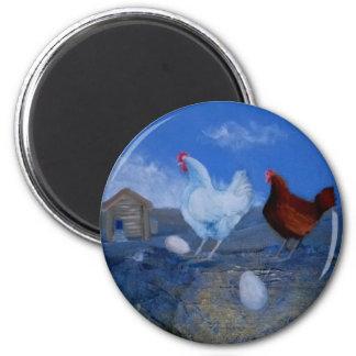 Magnet för konst för gulliga Hens/hönor beställnin
