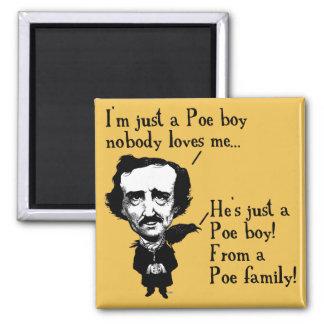 Magnet för kyl för Edgar Allan Poe pojke rolig