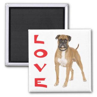 Magnet för kyl för hund för kärlekboxarevalp