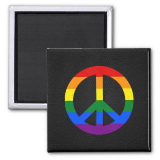 Magnet för LGBT-flaggafredstecken