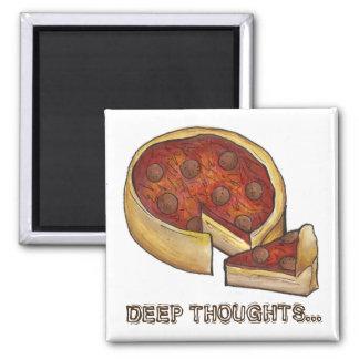 Magnet för Pizza för karotttankeChicago peperoni