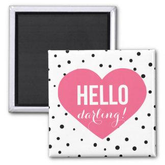 Magnet för polka dots för hjärta | för hejer