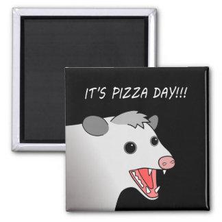 Magnet för pungråttaPizzadag