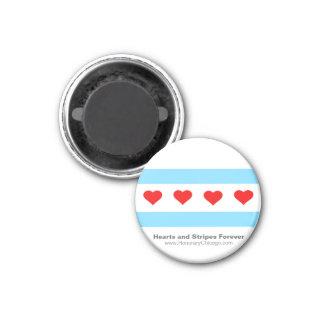 Magnet för runda för Chicago hjärtaflagga