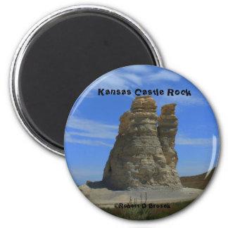 Magnet för runda för Kansas slottsten
