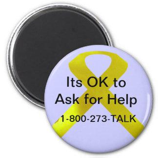 Magnet för självmordmedvetenhethjälp magnet rund 5.7 cm